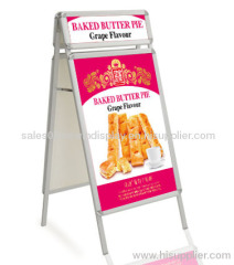 Outdoor Aluminum stand up poster,aluminium poster stand