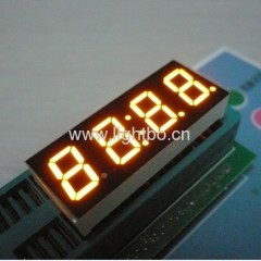 Four digit 0.4 inch amber 7 segment led clock display