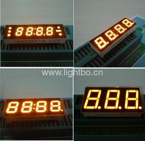 Янтарный 7 светодиодные цифровой дисплей, различные высоту символов доступную