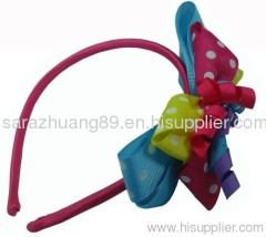 Grosgrain Ribbon Hair Bows With Headband
