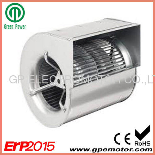 RoSH ErP2015 compliant 230VAC Double Inlet Forward Curved EC Fan with Brushless DC Motor