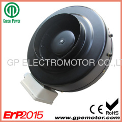 200 PWM control metal EC In-line Duct Fan with ErP2015