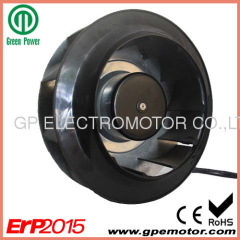 Backward Curved Blade115V EC Centrifugal Fan R3G250