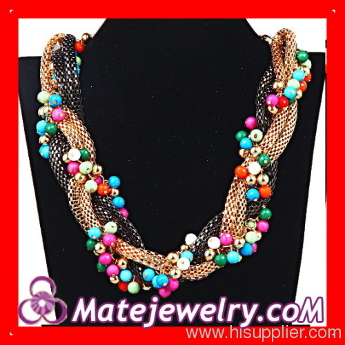 Beads Braided Chunky Necklace