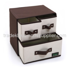 High-quality 3-drawers oxford decorative storage box