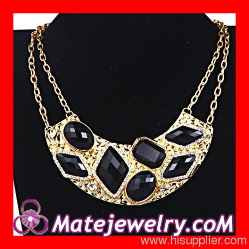 Gold Choker Bib Necklace