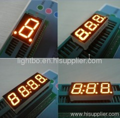 Amber 7 segment led numeric display,Character height available from 6.2mm to 500mm
