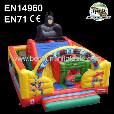 Superheroes Outdoor Inflatable Slide