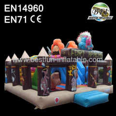 Indoor Inflatable Indian Playground With Slide