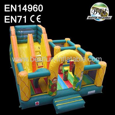 6mL*5mW*4mH Safari Slide Inflatable