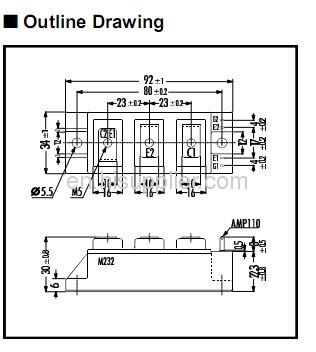 Product 1103615 2MBI100N 060 IGBT MODULE N Series Fuji