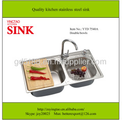 Double Sinks vegetable sink inox wash basin