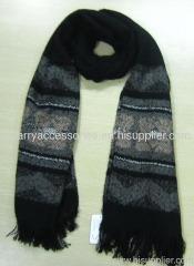 Acrylic jacquard woven scarf