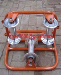 Cable roller, galvanized,Cable roller with ground plate