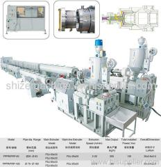 HDPE pressure pipe extrusion machine
