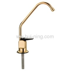 golden color ordinary goose neck faucet