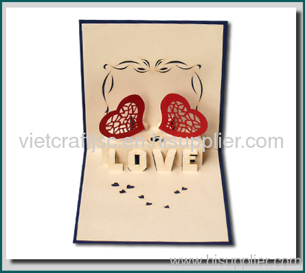 Valentine cards Paper Crafts handmade card vietnam 3d from China – 3d Valentine Cards