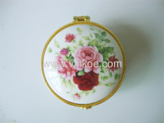 Round Fashion Ceramic Jewelry Box