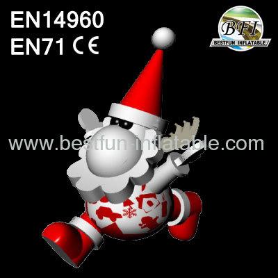 Inflatable Lighting Christmas Santa Clause