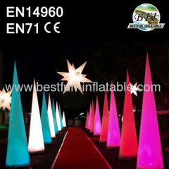 Colorful LED Inflatable Light Cones