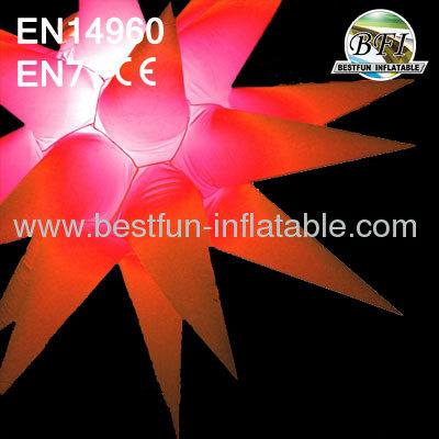 Inflatable Lighting Stars For Festival Decoration