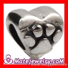 925 Silver european Heart Charm