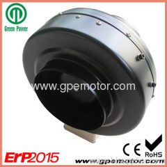Building Ventilation 250 outlet 48V Brushless DC In-line Circular Duct Fan with EC Backward curved Fan