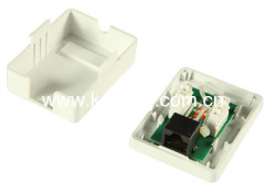 RJ45 Unshield Surface Mount Box With keystone Jack