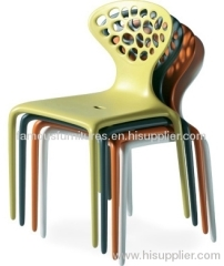 PP european style supernatural hollow stackable side Chairs