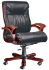 wooden office CEO chair/wooden office swivel chair/wooden high back swivel chair
