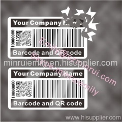 barcode void destructible labels