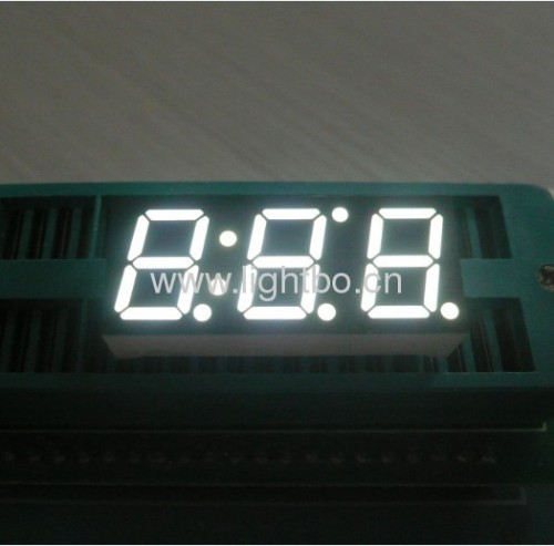 Triple digit 0.39 inch common anode white 7 segment led display