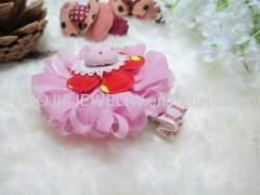 BYFJ1102 Flower shape Fabric Hair Clip
