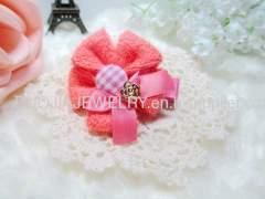 BYFJ1103 Flower shape Fabric Hair Cli