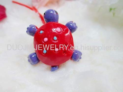 Tortoise Shape Hair Rubber Band with Resin Design