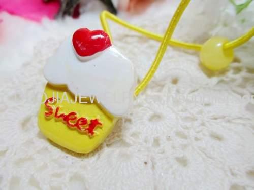 Children Hair accessories, Children Hair ornament 2012 New DBFS1108 sweet cake Hair Rubber Band /Hair Elastic Band