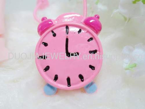 Lovely Alarm Clock Shape Hair Rubber Band with Resin