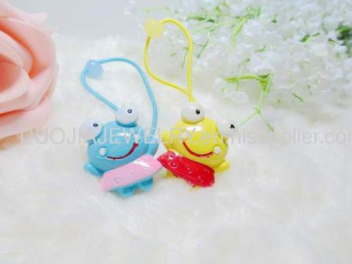 DBFS1114 lovely Frog Shape Hair Rubber Band with Resin