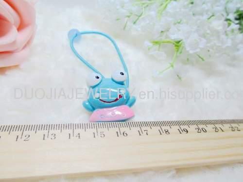 Children Hair accessories, Children Hair ornament DBFS1114 lovely Frog Shape Hair Rubber Band /Hair Elastic Band