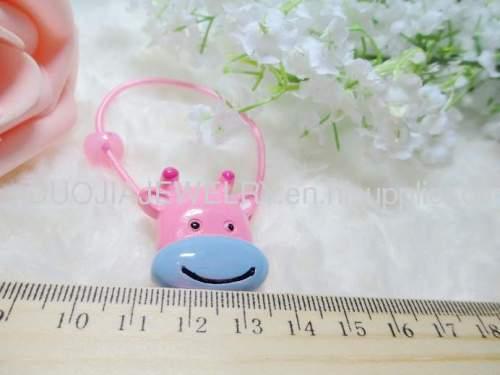 Children Hair accessories, Children Hair ornament DBFS1115 Dairy Cattle Shape Hair Rubber Band Hair Elastic Band