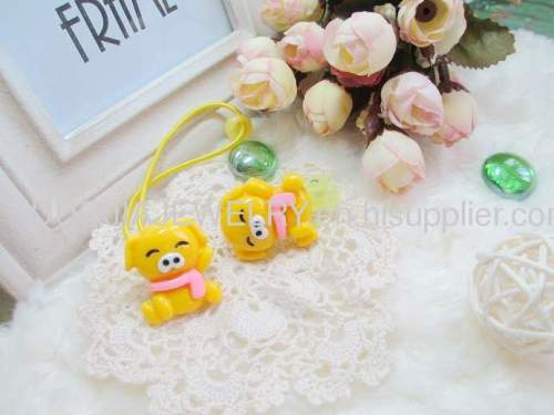 Children Hair accessories, Children Hair ornament Handmade DBFS1117 Lovely Bear shape Rubber Bands/Hair Elastic Bands