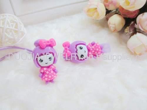 Fancy DBFS1118 beautiful girl shape Rubber Bands/Hair Elastic Bands Children Hair accessories, Children Hair ornament