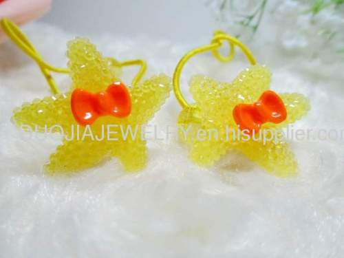 Children Hair accessories, Children Hair ornament DBTS1103 Lovely Starfish Hair Rubber Bands /Hair Elastic Band