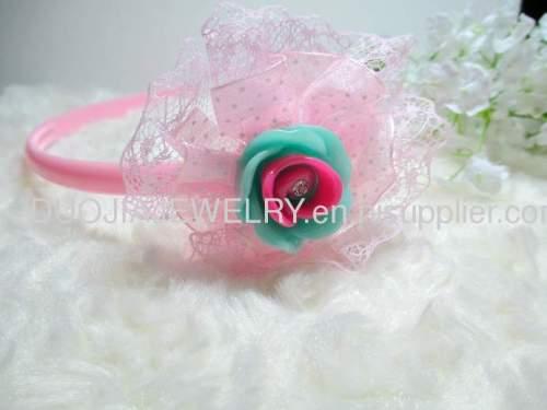 Children Hair accessories, Children Hair ornament y Handmade FG1104 beautiful Flower Shape Hair Band /Hair Band