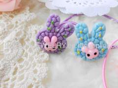 Rabbit Shape Resin Hair Rubber Bands/Hair Elastic Bands