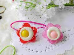 Hair Rubber Bands with Resin Design/Hair Elastic Bands