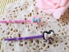Bowknot Shape Iron and Resin Hair Clip/ Hair Grip/ Hairpin
