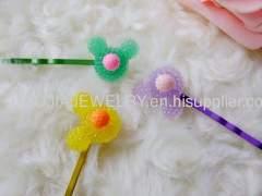 Mickey Shape Iron and Resin Hair Clip/ Hair Grip/ Hairpin