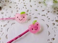 YZJ009 Fruit Shape Iron and Resin Hair Clip/ Hair Grip