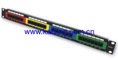 Cat5e UTP Patch Panel Colorful Type